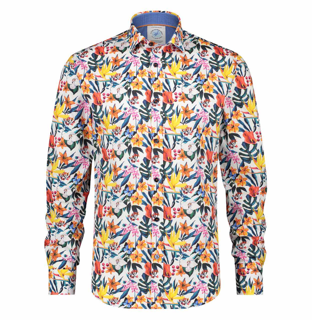 A Fish named Fred Shirt 22.01.002 White multicolour 22.01.002 wit Maat M