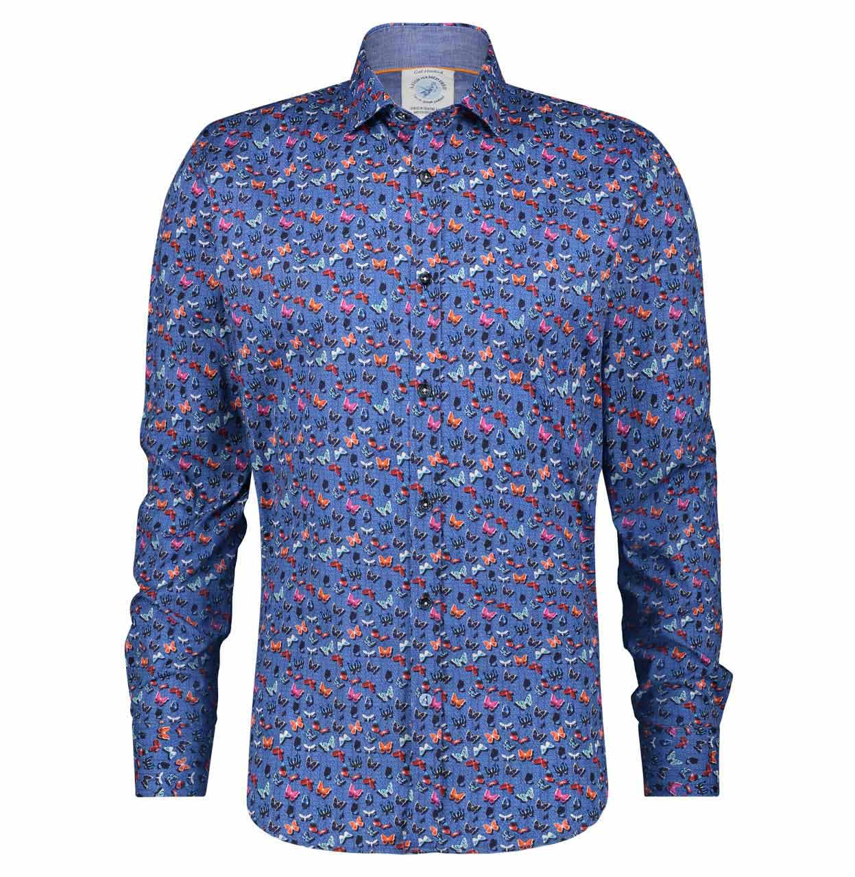 A Fish named Fred Shirt 22.01.011 Blue 22.01.011 blauw Maat XXL
