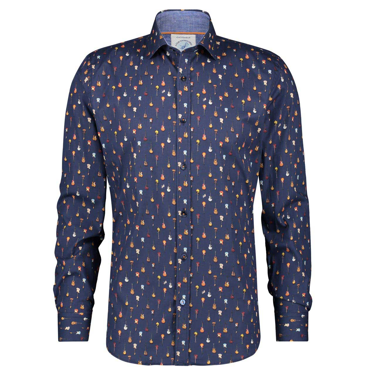 A Fish named Fred Shirt 22.01.015 Navy blue 22.01.015 marine Maat S
