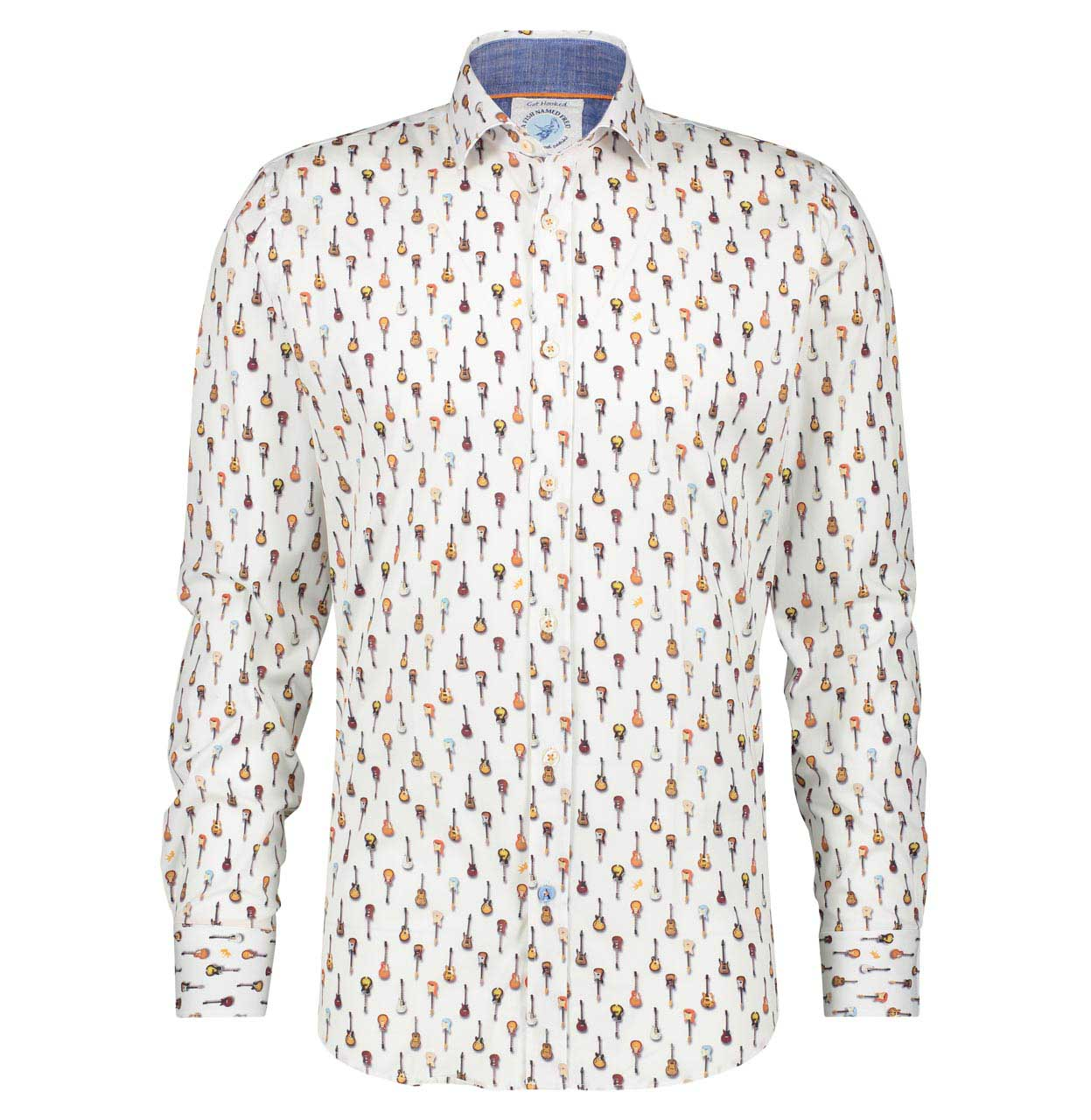 A Fish named Fred Shirt 22.01.016 White 22.01.016 wit Maat 3XL