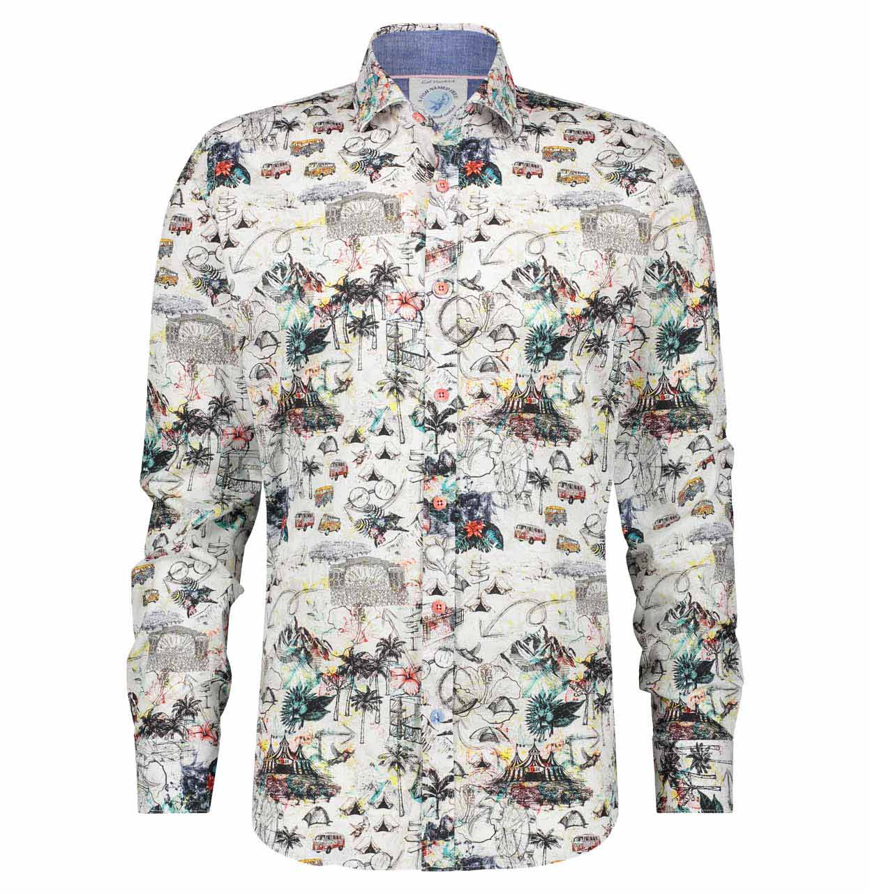 A Fish named Fred Shirt 22.02.034 White 22.02.034 wit Maat XXL