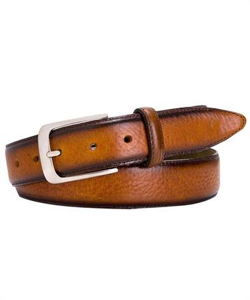 BELT LTHR SIDE POLISH COGNAC