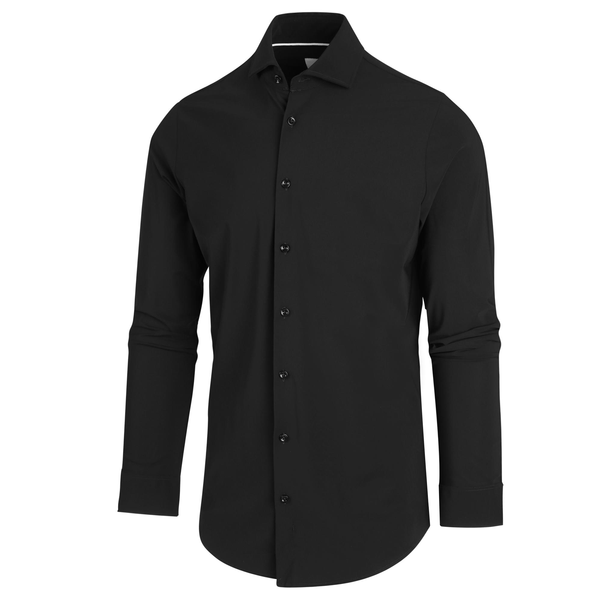 Blue Industry Shirt 2191.22 Black 2191.22 zwart Maat 40