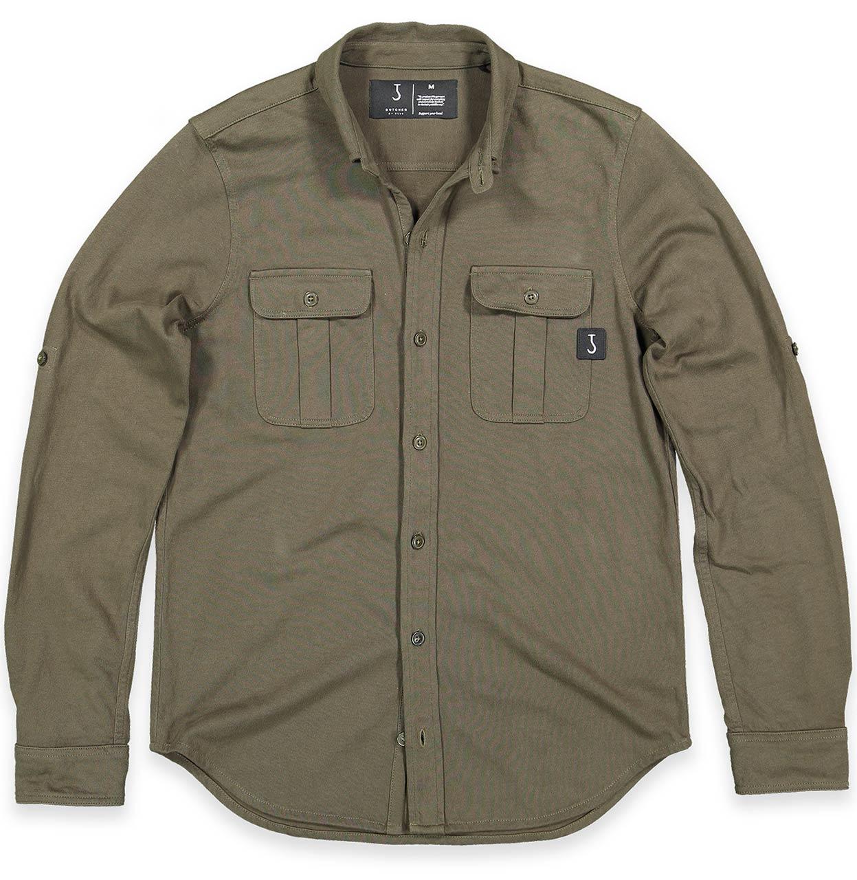 Butcher of Blue Shirt 1814000 770 1814000 olijf groen Maat L