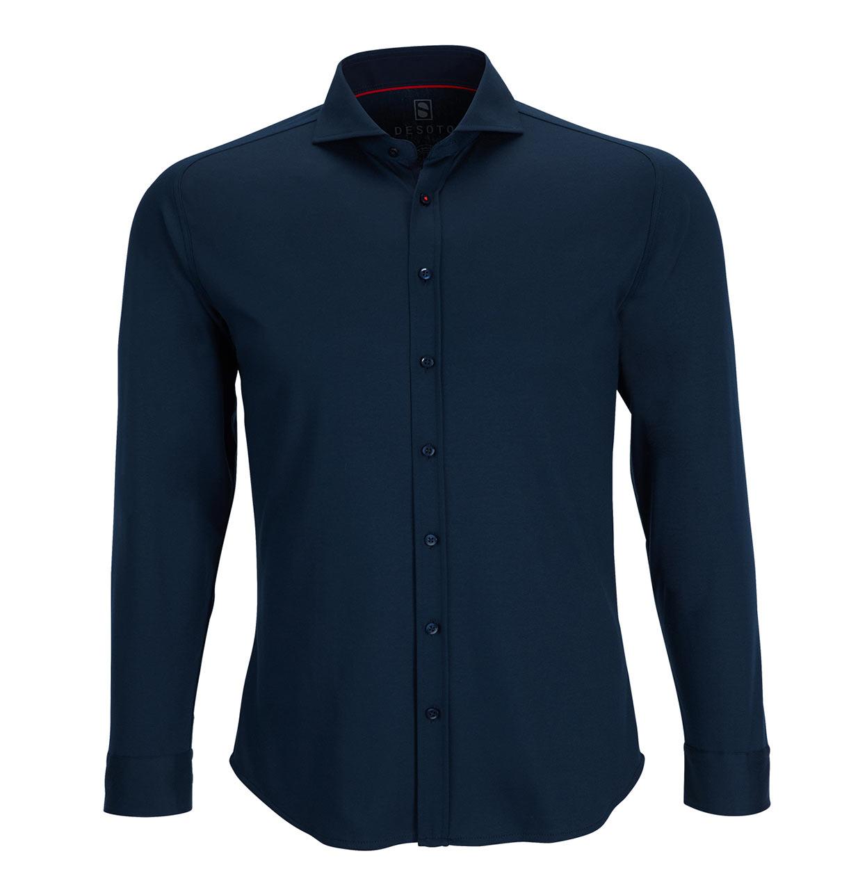 Desoto Shirt 21008 057 21008 blauw Maat S