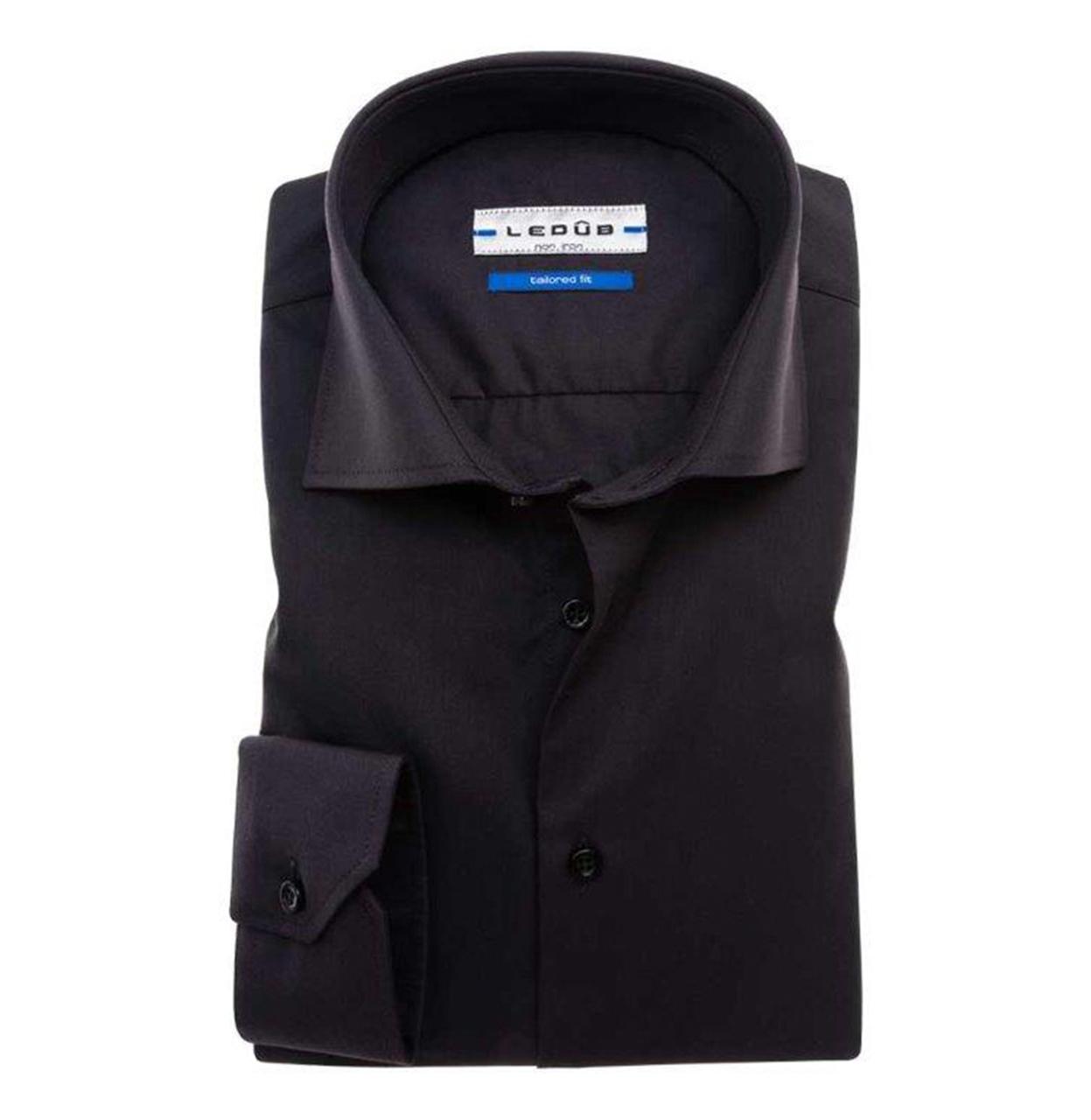 Ledub Shirt 0033528 290000 Zwart 290 0033528 zwart Maat 38