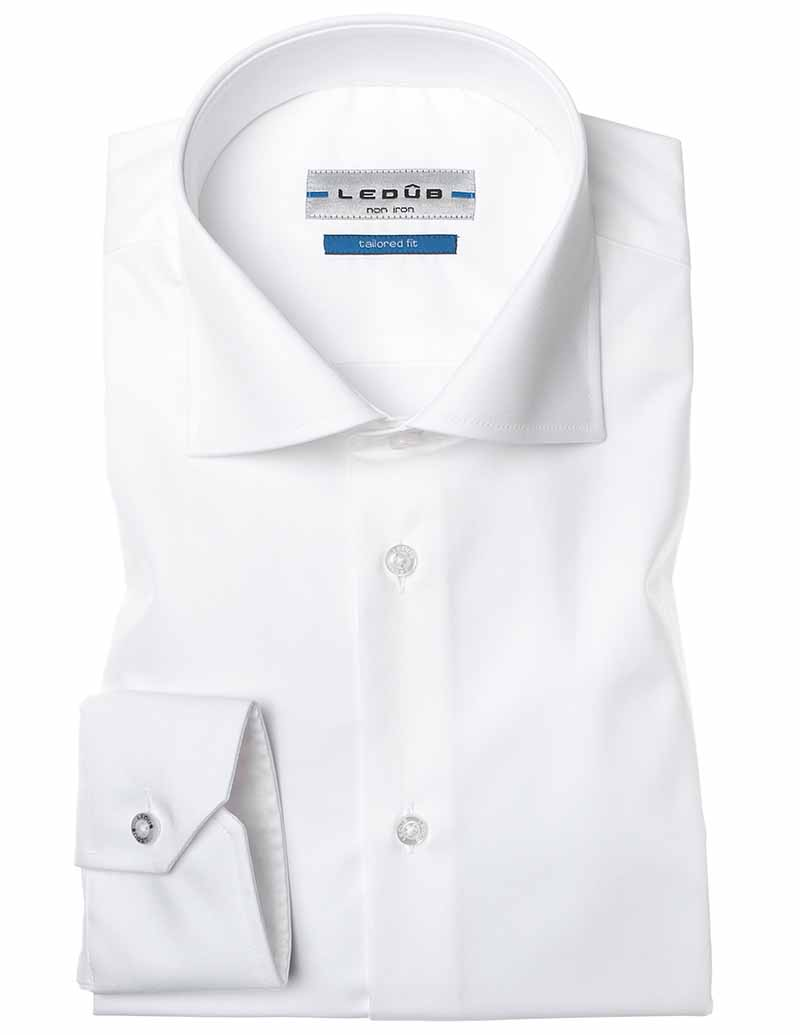 Ledub Shirt 0033528 910000 Spierwit 0033528 wit Maat 39
