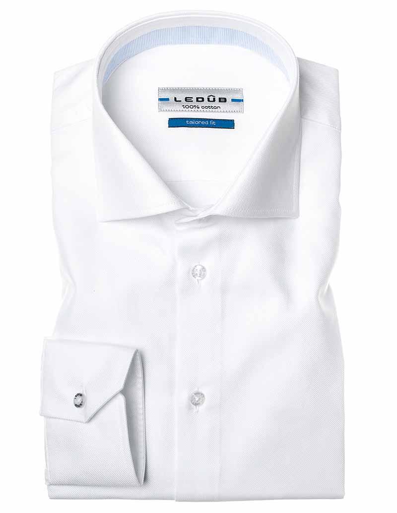 Ledub Shirt 0034569 910120 Spierwit Baby Blauw 0034569 wit Maat 37