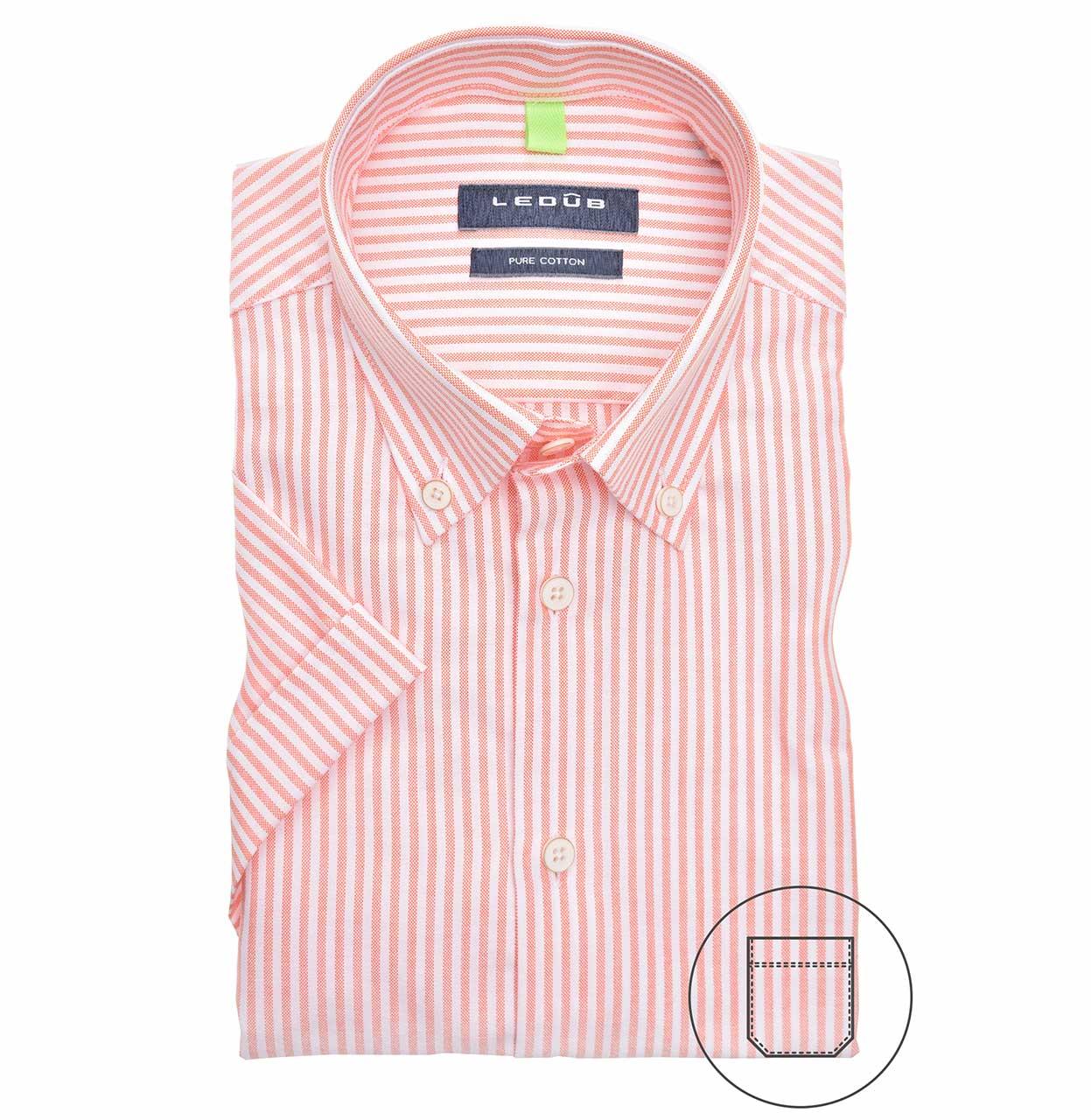 Ledub Shirt 0140053 850540 Middenoranje 850 Midden 0140053 oranje Maat 39
