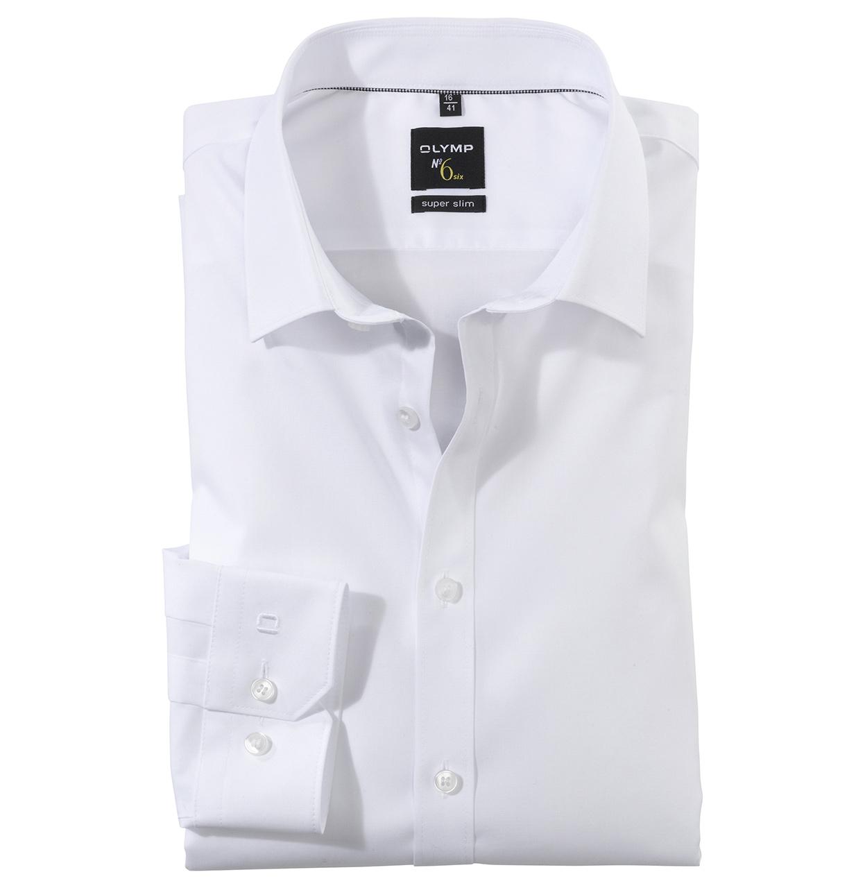 OLYMP Shirt 046664 00 1 046664 wit Maat 38
