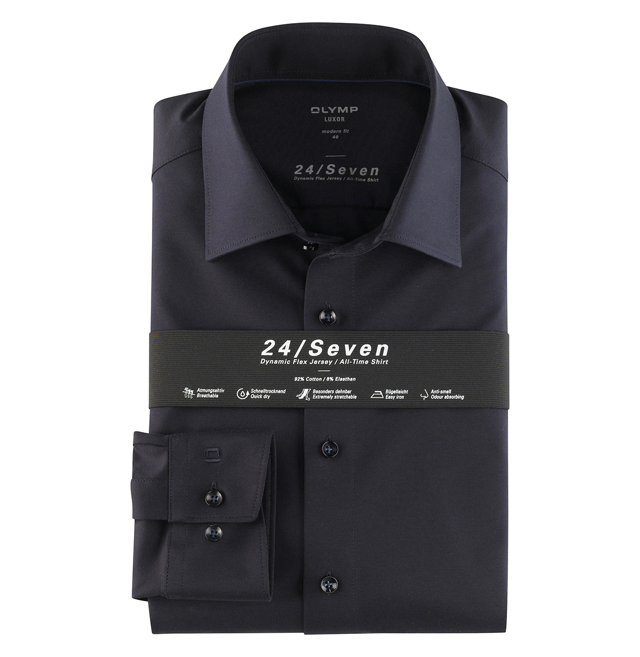 OLYMP Shirt 120264 18 1 120264 marine Maat 43
