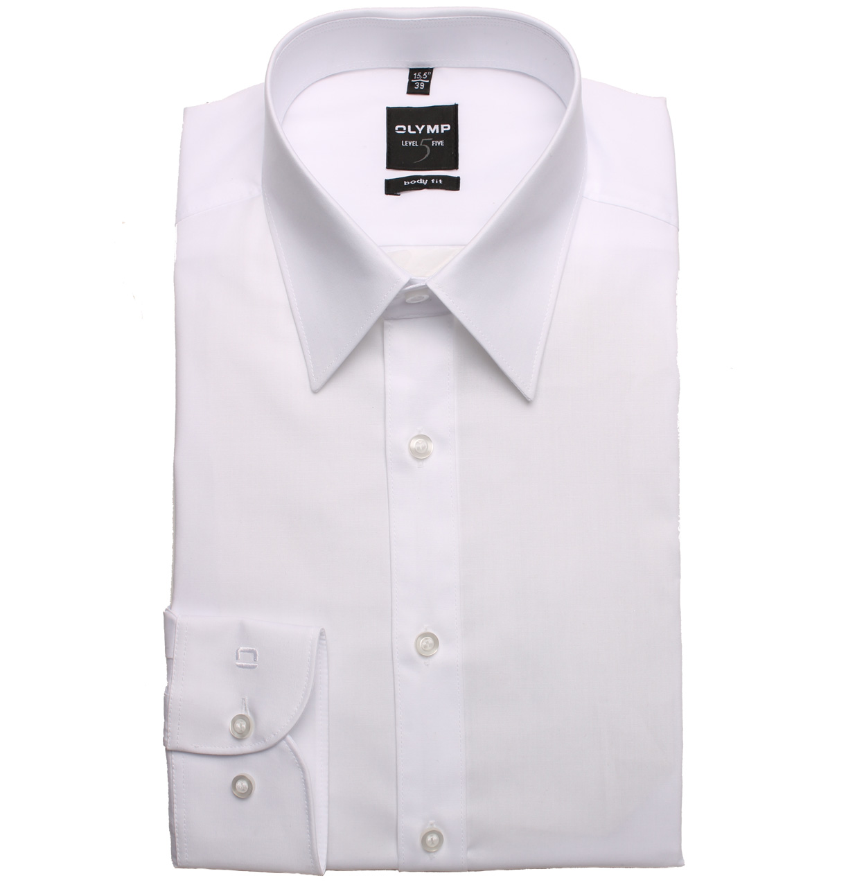 OLYMP Shirt 609064 00 weiss 609064 wit Maat 39
