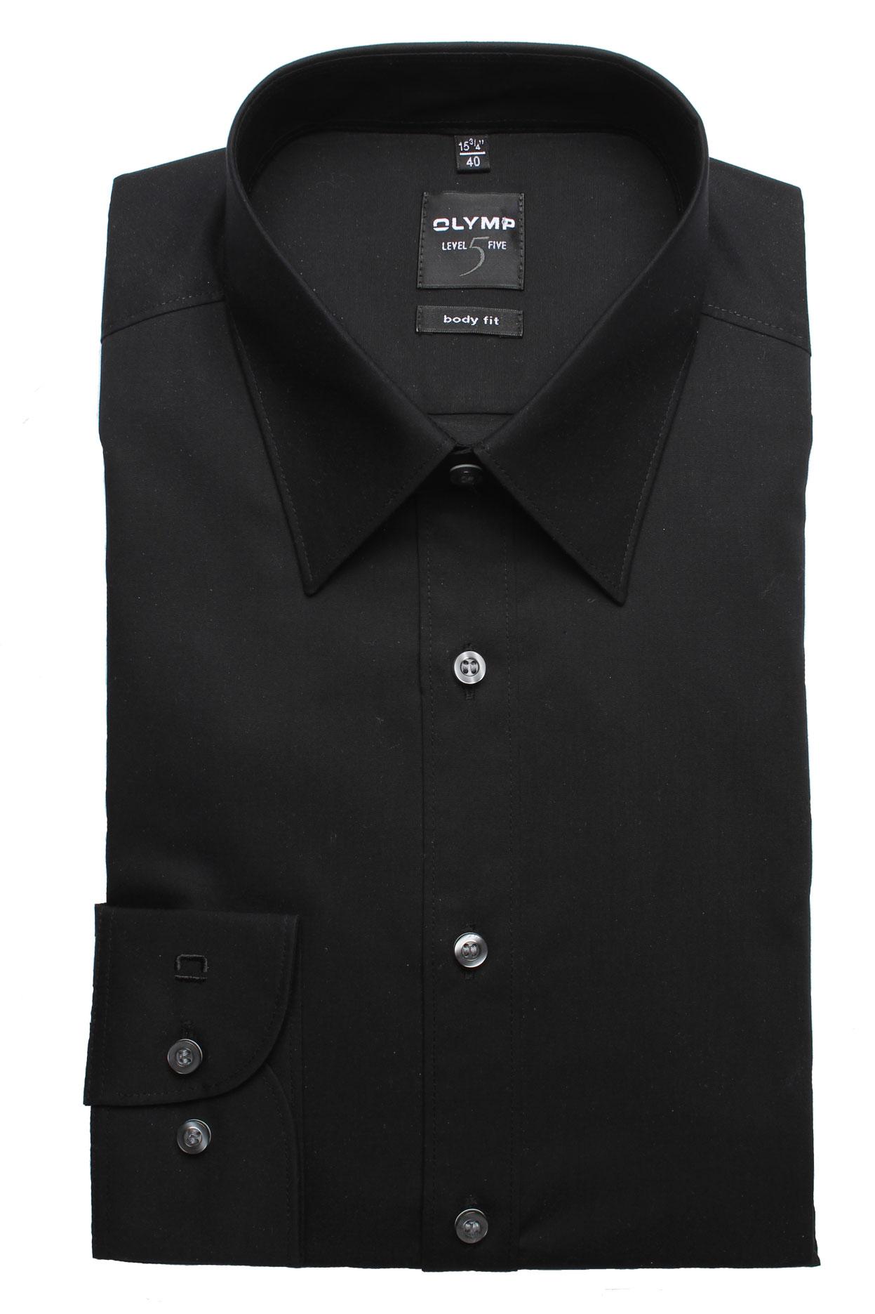 OLYMP Shirt 609064 68 schwarz 609064 zwart Maat 40