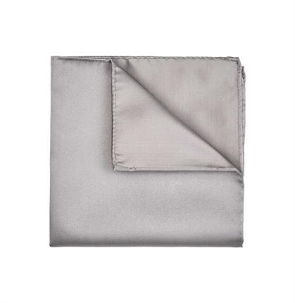 POCKET SQUARE SILK SATIN GREY