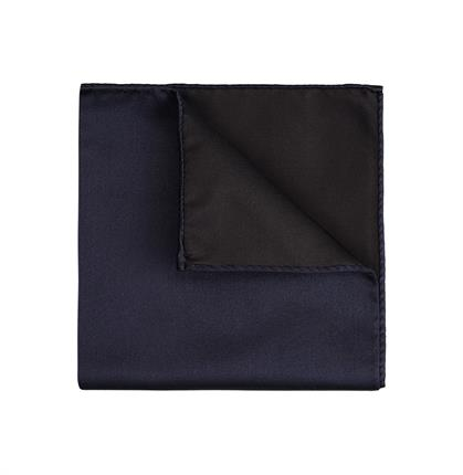 POCKET SQUARE SILK SATIN NAVY