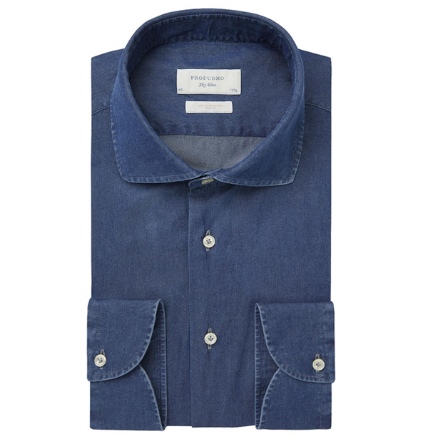 Profuomo Shirt PP1H0C002 PP1H0C002 marine Maat 37