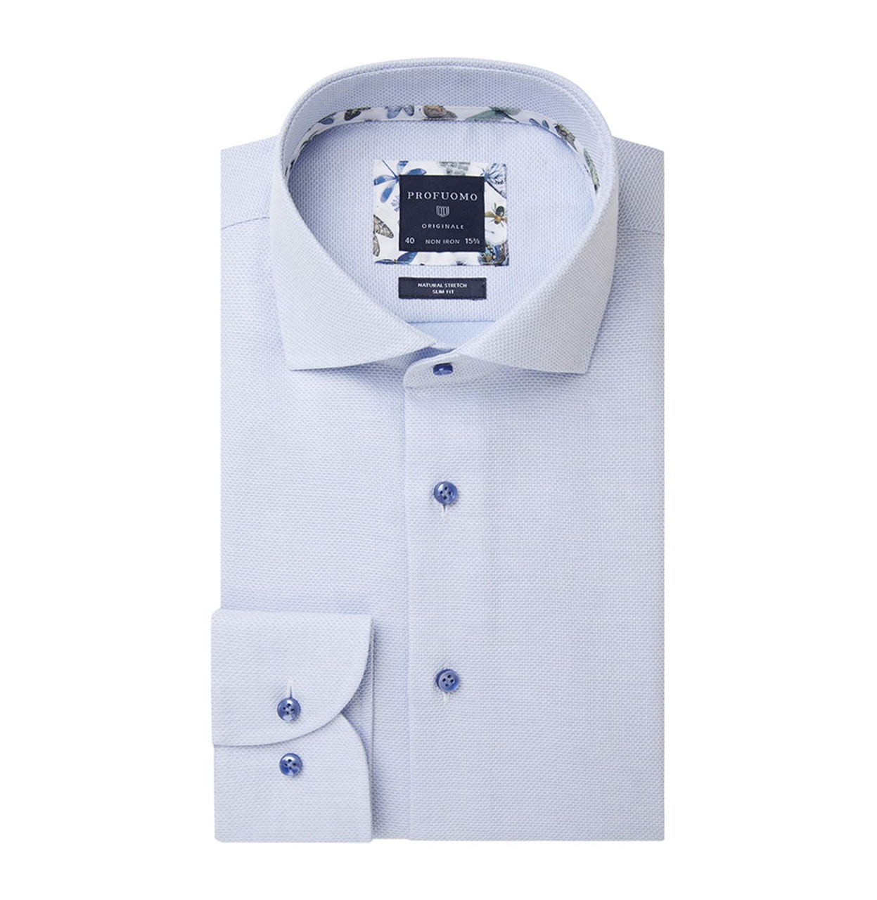 Profuomo Shirt PPSH1A1024 M PPSH1A1024 blauw Maat 39