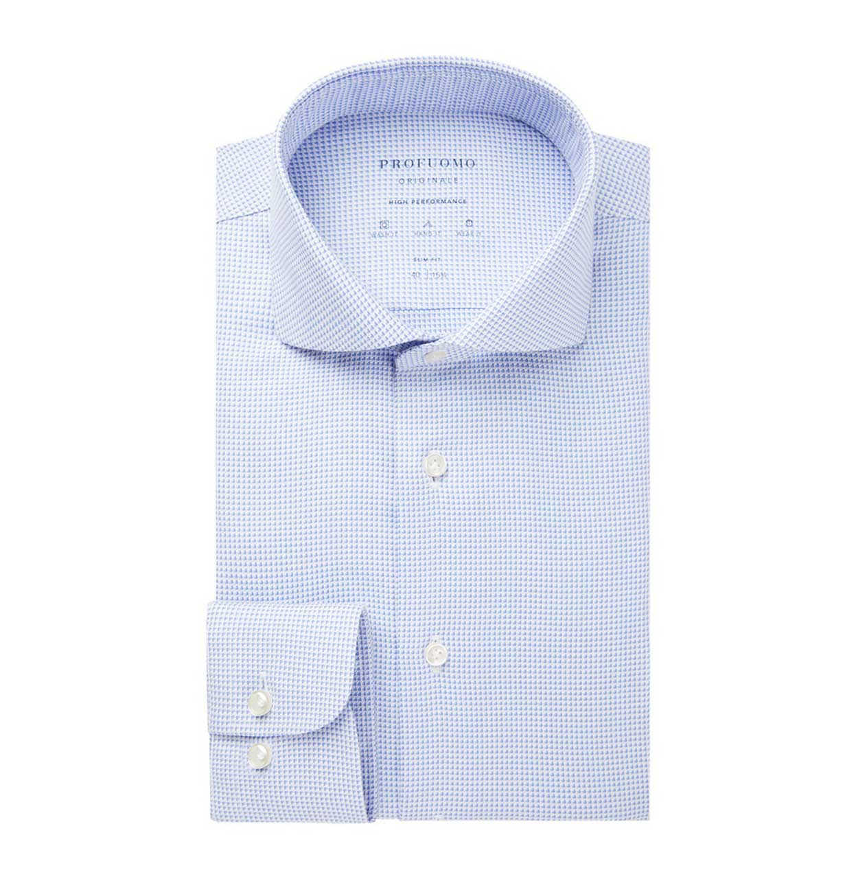 Profuomo Shirt PPSH1A1050 M PPSH1A1050 blauw Maat 37