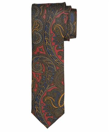 TIE SILK TWILL PRINT RED